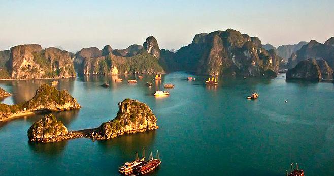 風景如畫的越南下龍灣