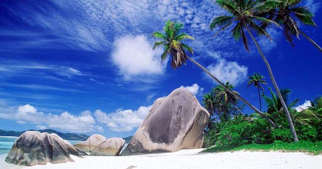 三亞美麗的熱帶海濱