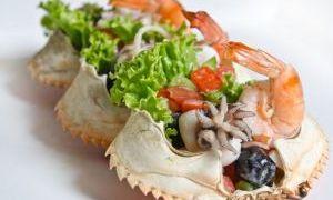 扇贝螃蟹沙拉