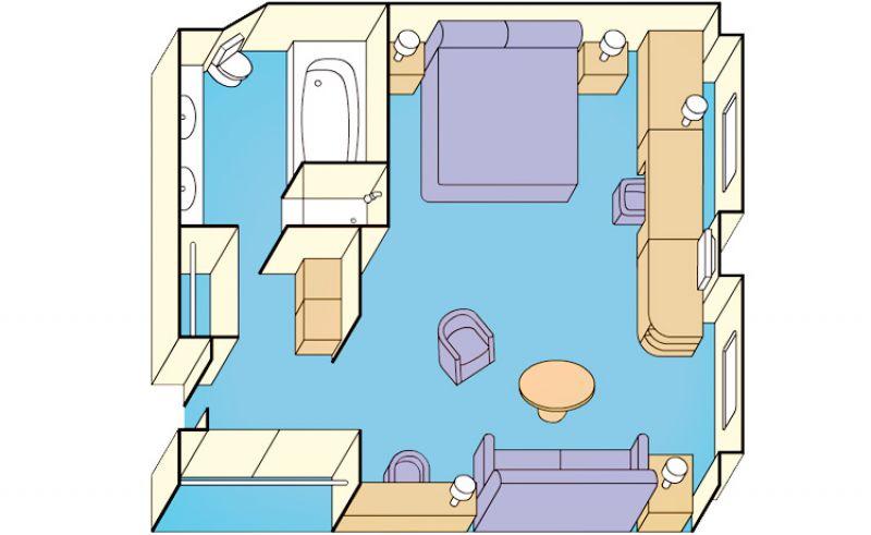 阳光套房户型图