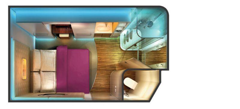 单人内舱房户型图