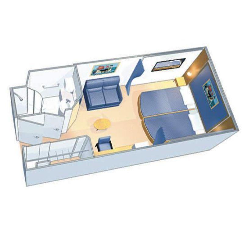 内舱房户型图