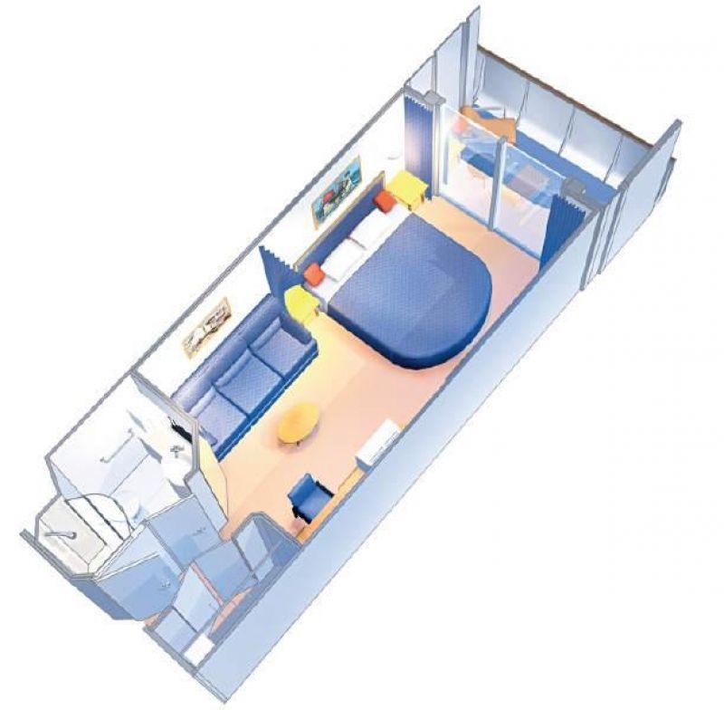 豪华阳台房户型图
