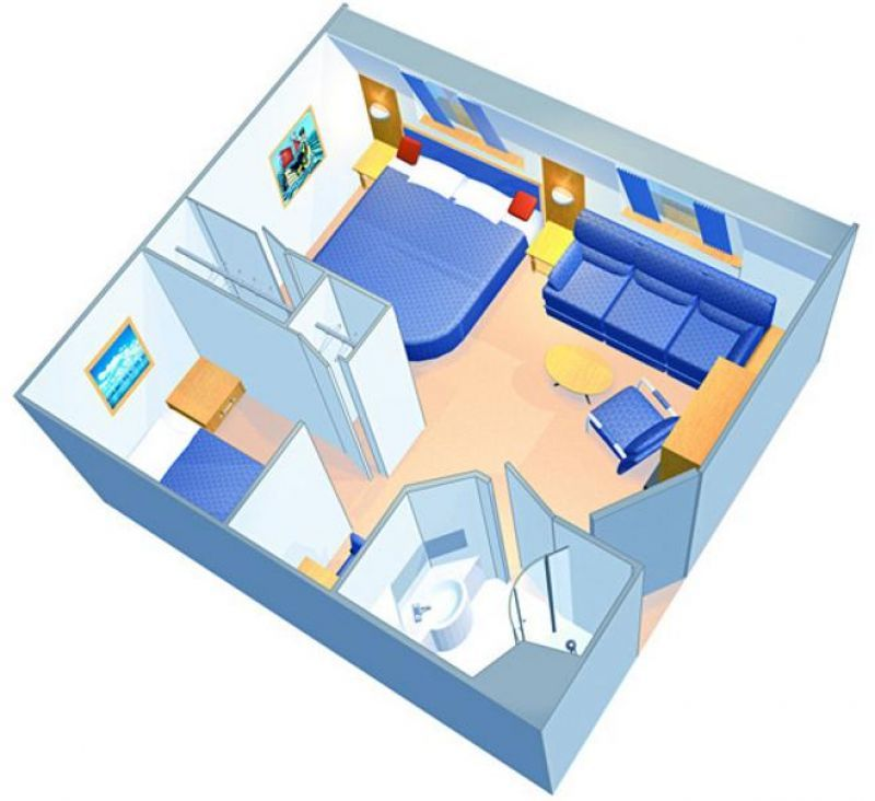 家庭海景房户型图